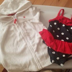 Newborn bathing suit & coverup